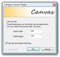 Configure Canvas Plugin